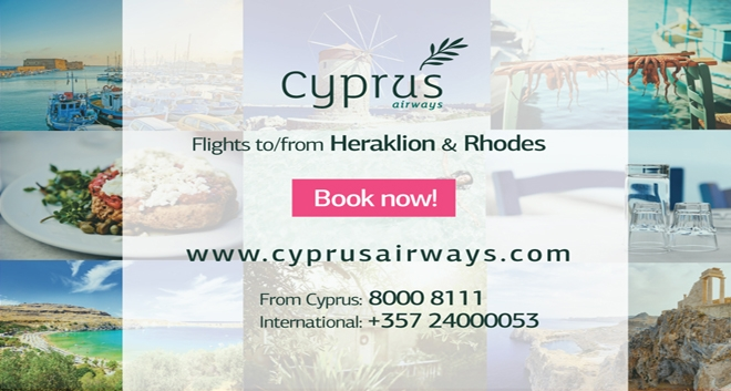 Cyprus Airways Launches Tickets Sales for Heraklion and Rhodes