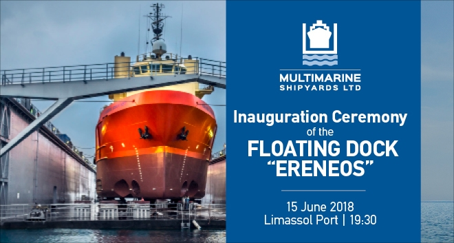Floating Dock 'Ereneos' Inaugurated by Multimarine Shipyards