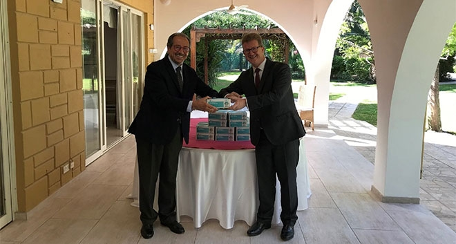 Marios Eliades Donates 5,000 Protective Masks To The British High Commission