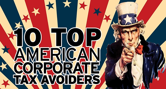 10 Top American Corporate Tax Avoiders