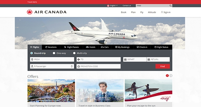 Air Canada Turns to Amadeus Technology to Power its New Online Global Shopping and Booking Experience
