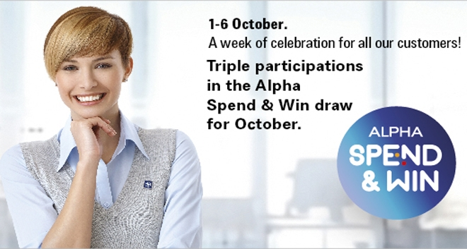 Alpha Bank Celebrates the Customer Service Week by Rewarding its Customers