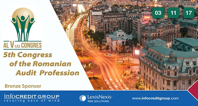 Infocredit and Lexisnexis Designated Bronze Sponsors of the 5th Congress of The Romanian Audit Profession