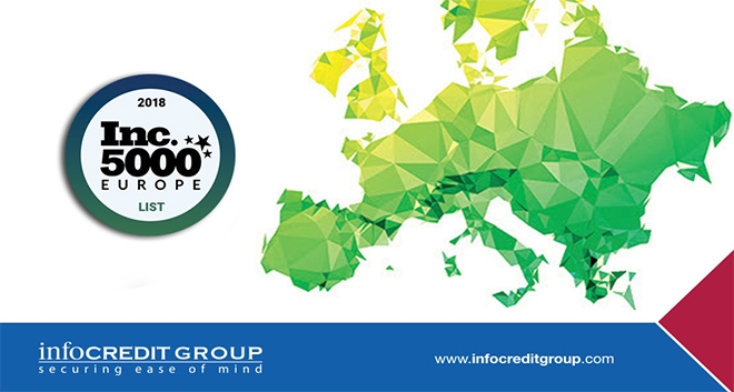 Infocredit Group Ranks No. 4931 on the 2018 Inc. 5000 Europe List