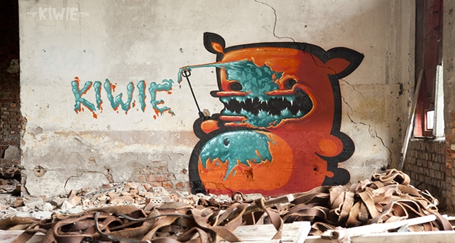 "Whipper Signs Street Art Graffiti Master ""Kiwie"""