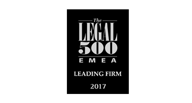 Pyrgou Vakis Law Firm Achieves Multiple Rankings in Legal 500 EMEA 2017 Listing