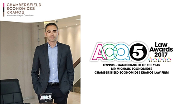 Michalis Economides Receives Cyprus-Gamechanger Attorney of the Year Award